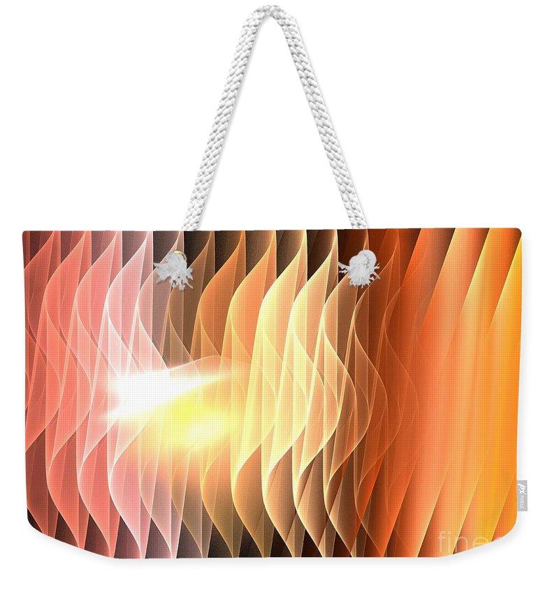 Apophysis Weekender Tote Bag featuring the digital art Desert Waves by Kim Sy Ok