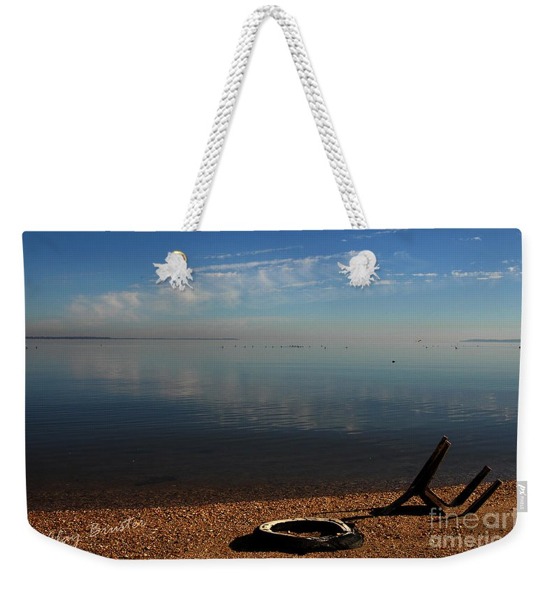 Clay Weekender Tote Bag featuring the photograph Deserted Beach by Clayton Bruster