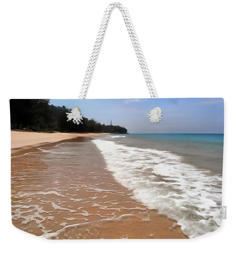 Deserted Shore Weekender Tote Bag featuring the photograph Deserted Shore Of The Island Of Tioman by Sergey Lukashin