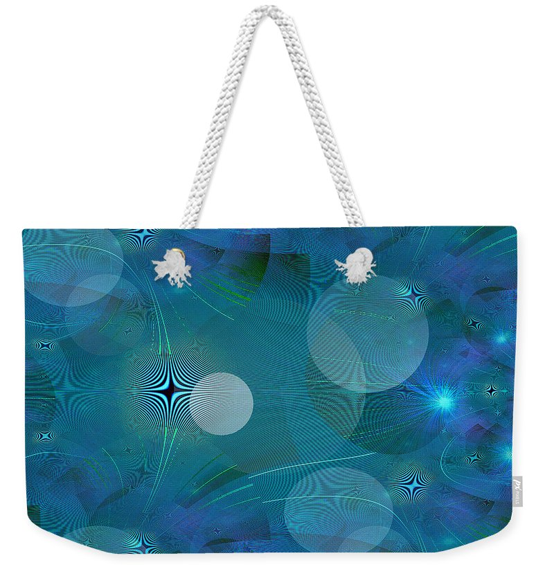 Weekender Tote Bag featuring the digital art Design #9 by Iris Gelbart