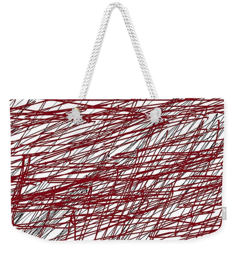 Design Weekender Tote Bag featuring the digital art Design by Aj