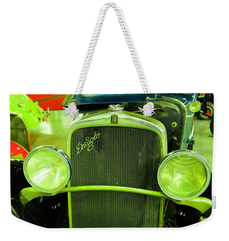 Old Weekender Tote Bag featuring the photograph Desoto by Jeff Swan