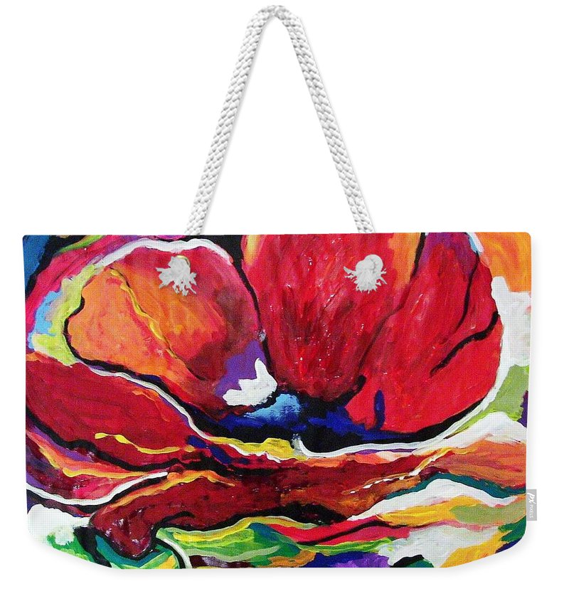 Floral Weekender Tote Bag featuring the painting Desperate For You by Gina Hulse