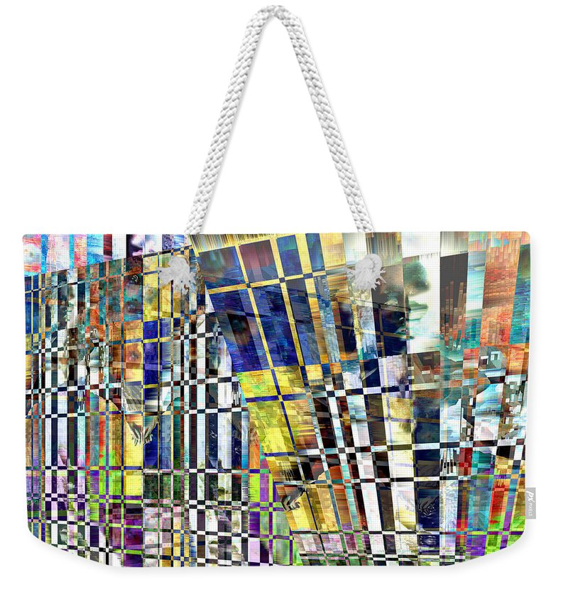 Abstract Weekender Tote Bag featuring the digital art Desperate Reflections by Seth Weaver