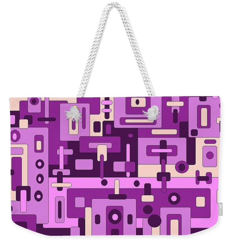 Digital Artwork Weekender Tote Bag featuring the digital art Dessert Sunset by Jordana Sands