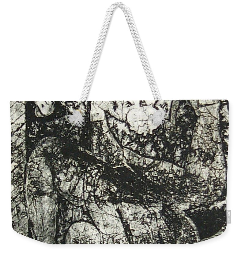 Etching Weekender Tote Bag featuring the print Destroy Plate by Thomas Valentine