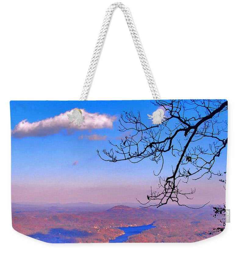 Landscape Weekender Tote Bag featuring the photograph Detail From Reaching For A Cloud by Steve Karol