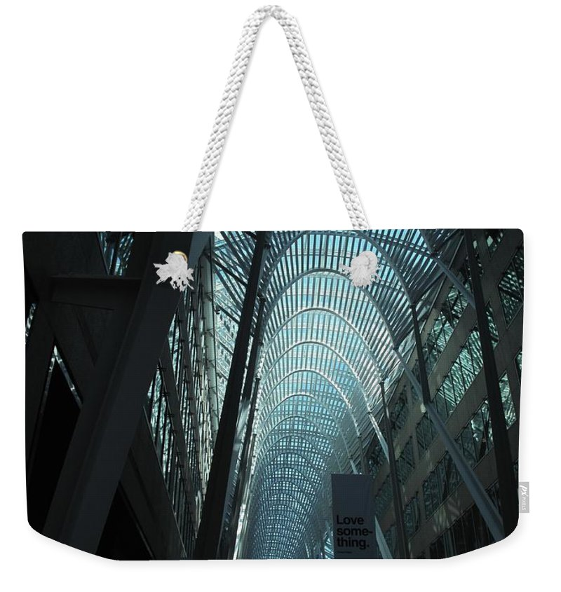Skylight Weekender Tote Bag featuring the photograph Detail by Ian MacDonald