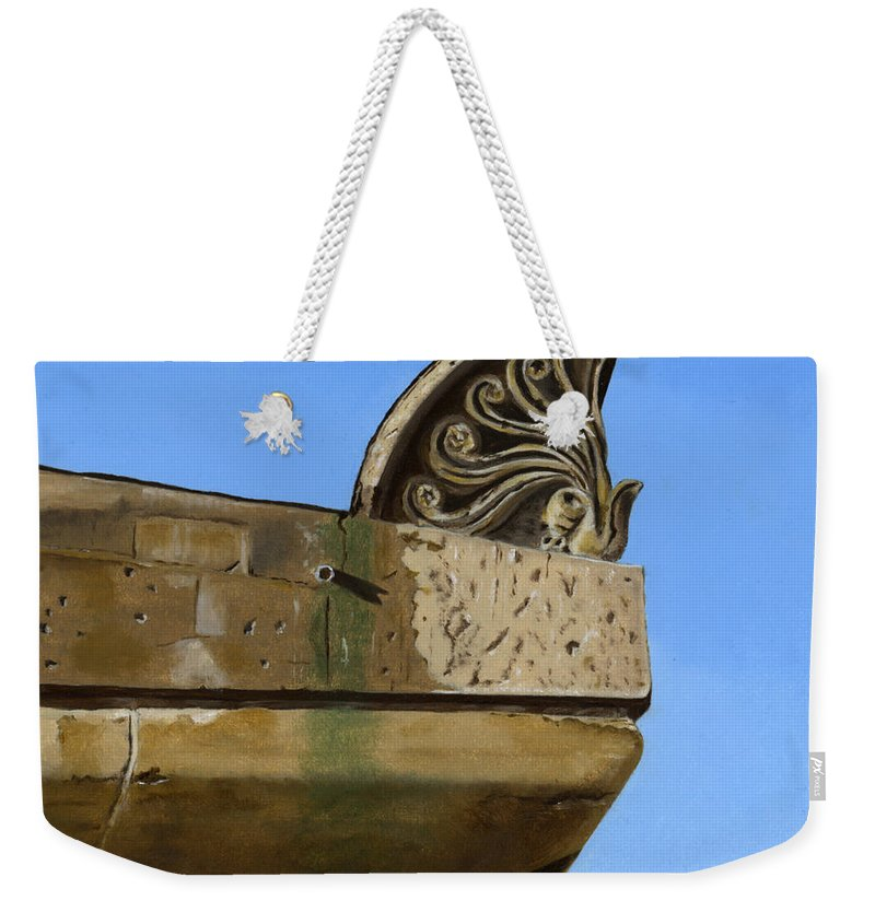 Building Weekender Tote Bag featuring the painting Detail Lighthouse Egmond by Rob De Vries