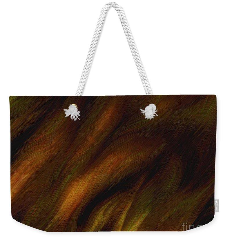 Auburn Weekender Tote Bag featuring the painting Detail - Pre-raphaelite Tresses by RC DeWinter