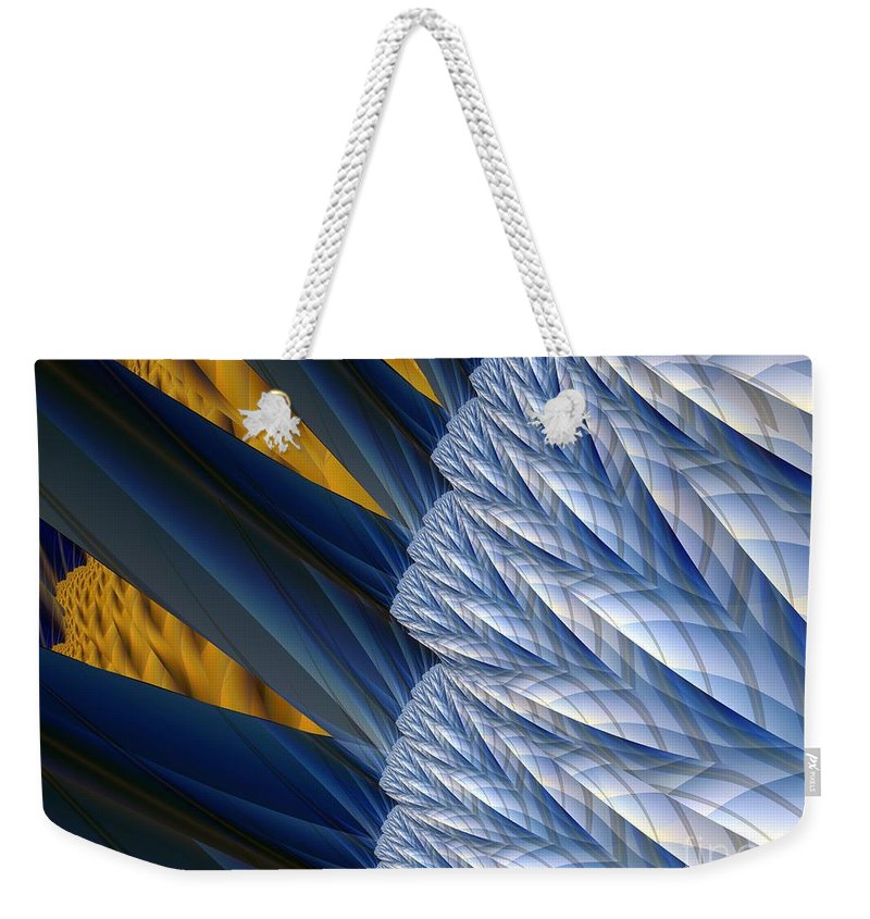 Montage Weekender Tote Bag featuring the digital art Detail by Ron Bissett