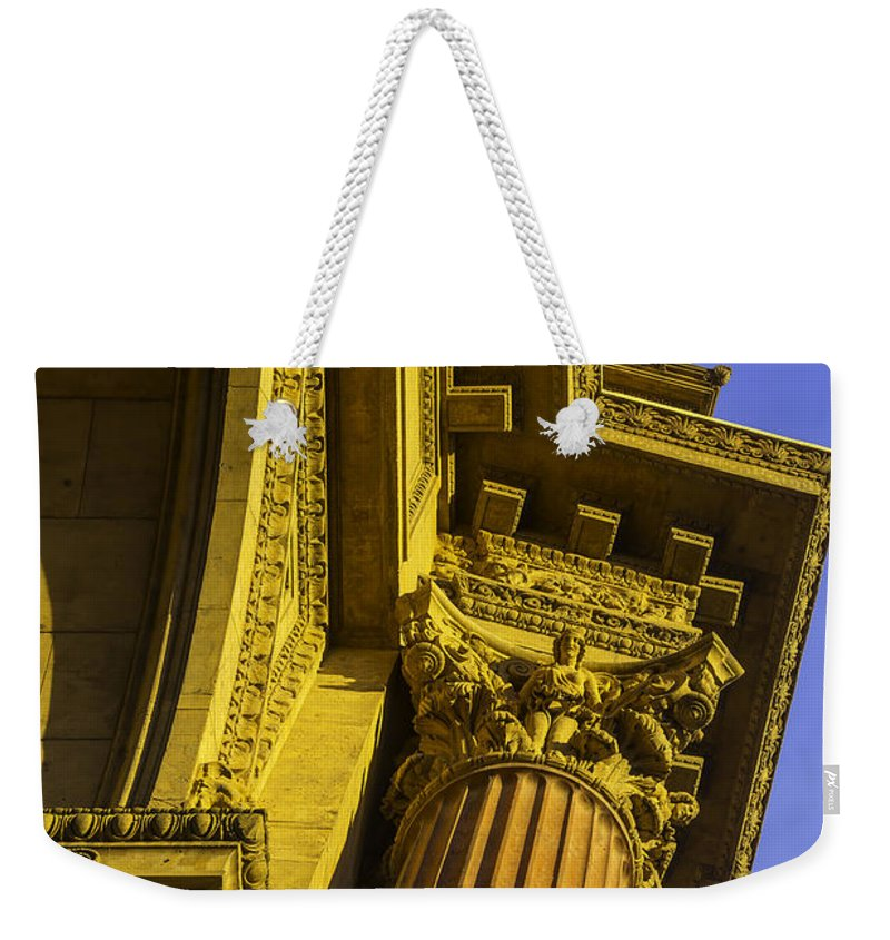 Palace Of Fine Arts Weekender Tote Bag featuring the photograph Details Palace Of Fine Arts by Garry Gay