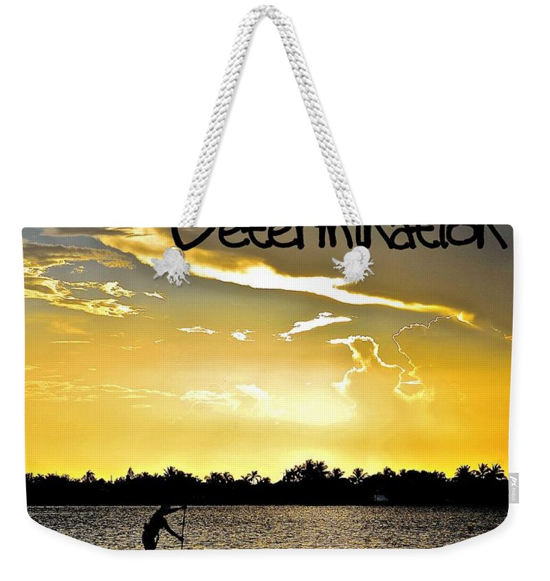 Determination Weekender Tote Bag featuring the photograph Determination by Lisa Renee Ludlum