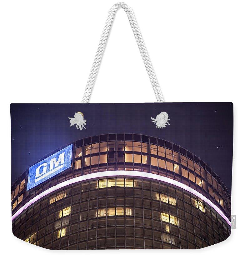 Salvador Weekender Tote Bag featuring the photograph Detroit Renaissance Center by Nicholas Grunas