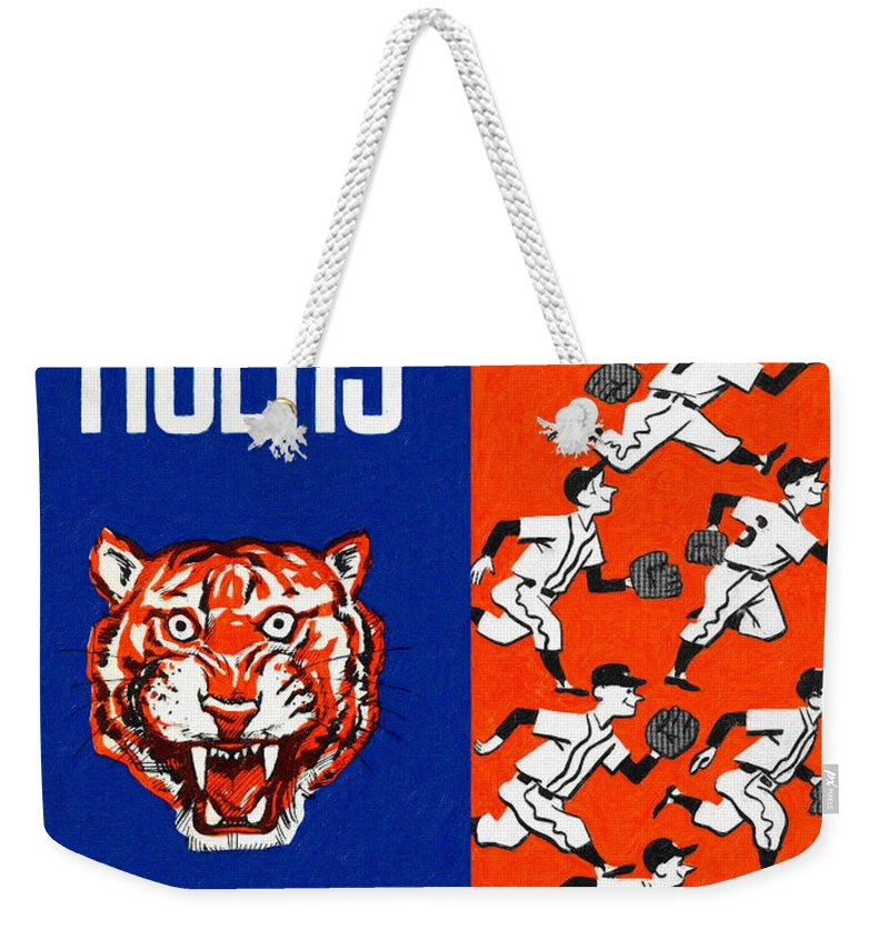 Yearbook Weekender Tote Bag featuring the painting Detroit Tigers 1962 Yearbook by John Farr
