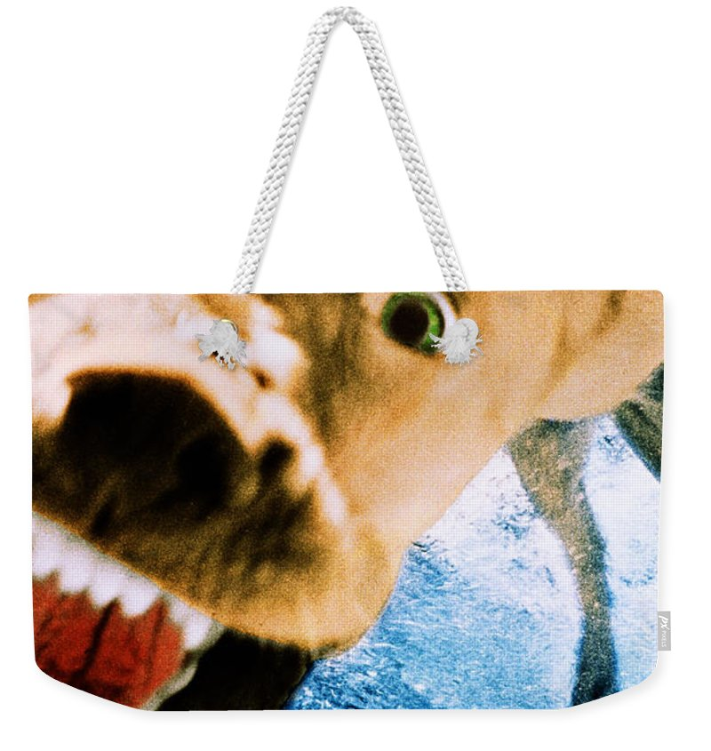 Dog Weekender Tote Bag featuring the photograph Devil Dog Underwater by Jill Reger