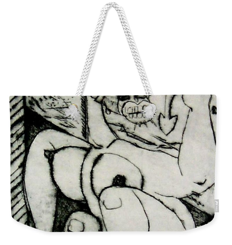 Gilr Weekender Tote Bag featuring the print Devils Horse by Thomas Valentine