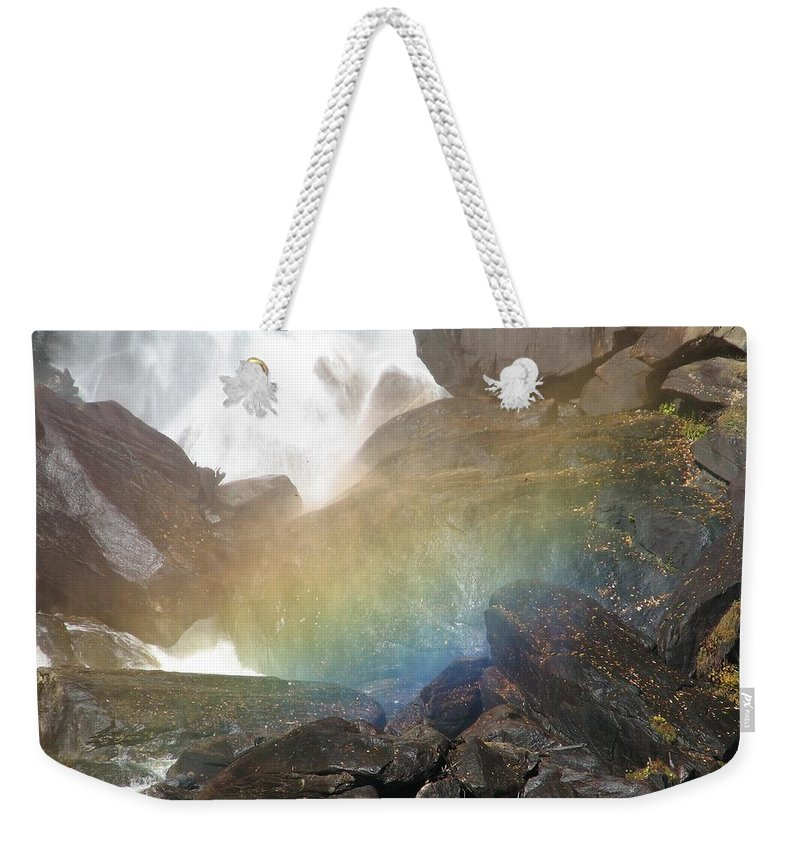 Devil's Fork Weekender Tote Bag featuring the photograph Devil's Rainbow by Kelly Mezzapelle