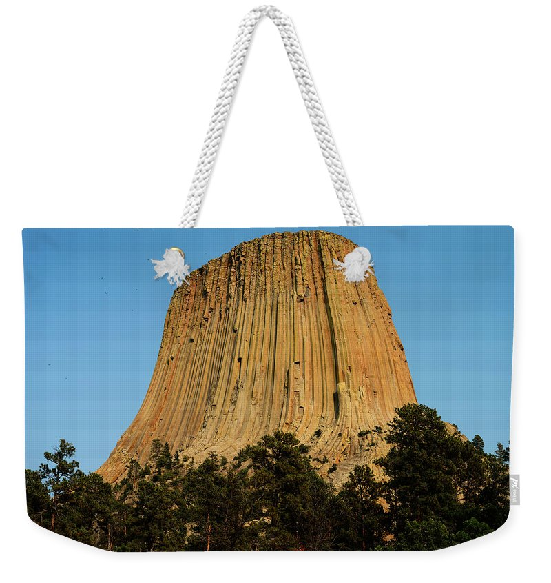 Devils Tower Weekender Tote Bag featuring the photograph Devils Tower by Norman Reid