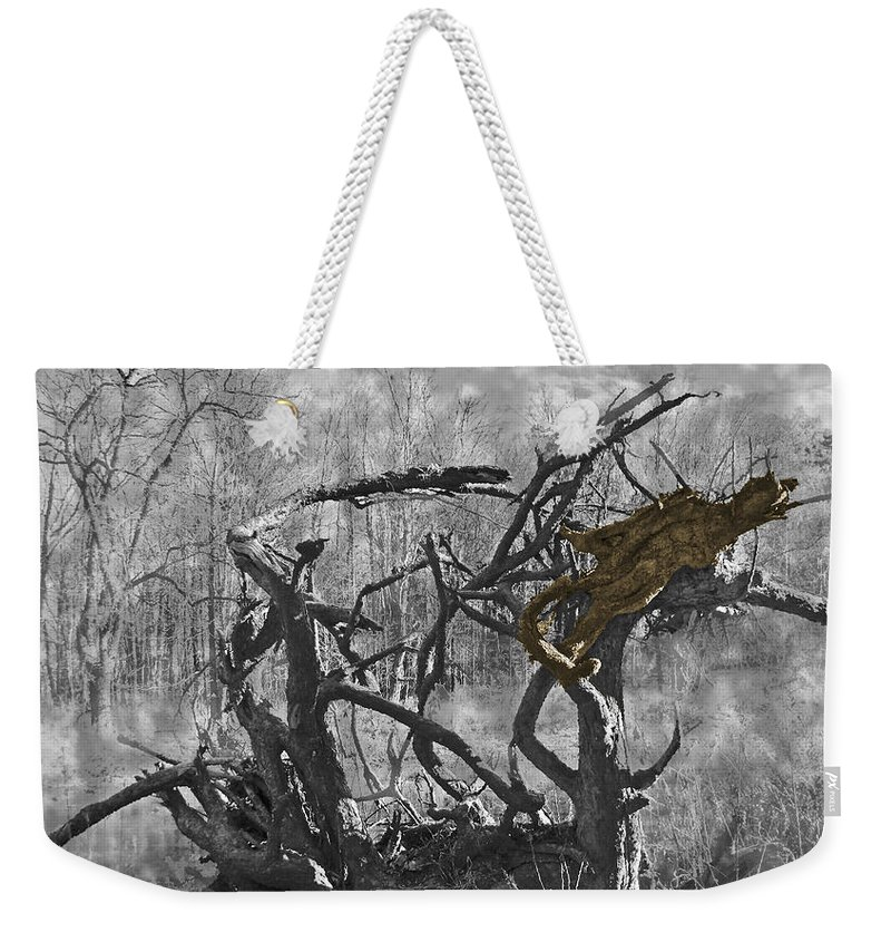 Devil Weekender Tote Bag featuring the photograph Devil's Tree by Phillip W Strunk