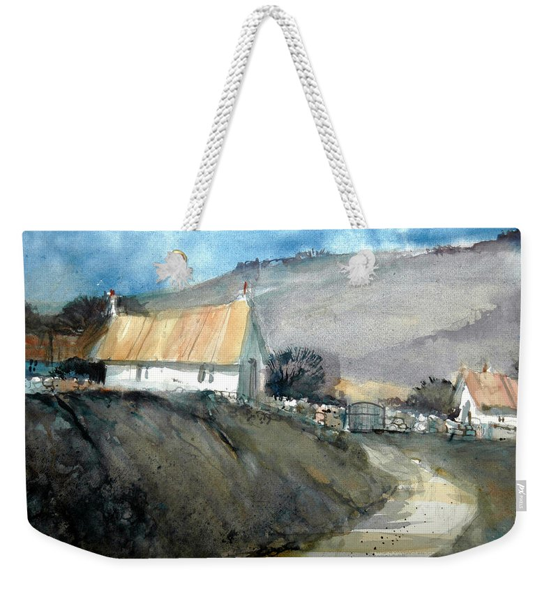 Devon Weekender Tote Bag featuring the painting Devonshire Farm by Charles Rowland