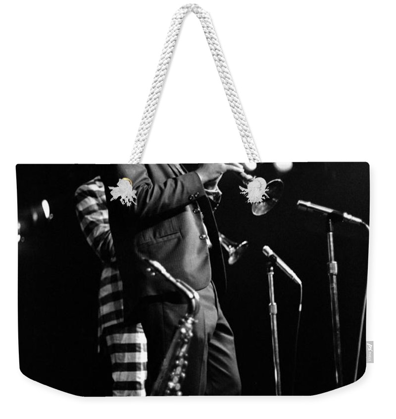 Ornette Coleman Weekender Tote Bag featuring the photograph Dewey Redman On Musette by Lee Santa