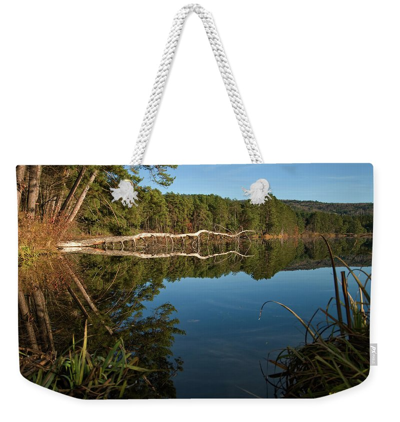 vermont Images Weekender Tote Bag featuring the photograph Dewey's Pond by Paul Mangold