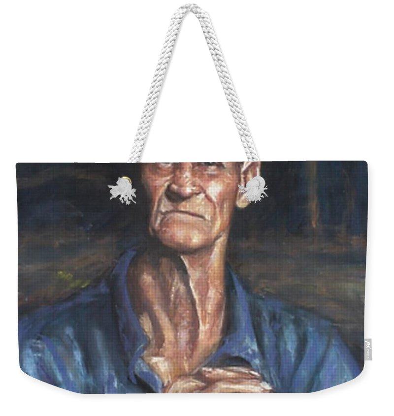 Pastel Weekender Tote Bag featuring the pastel Dewitt by Beverly Boulet