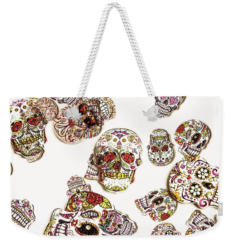 Sugar Skull Weekender Tote Bag featuring the photograph Dia De Muertos by Jorgo Photography - Wall Art Gallery