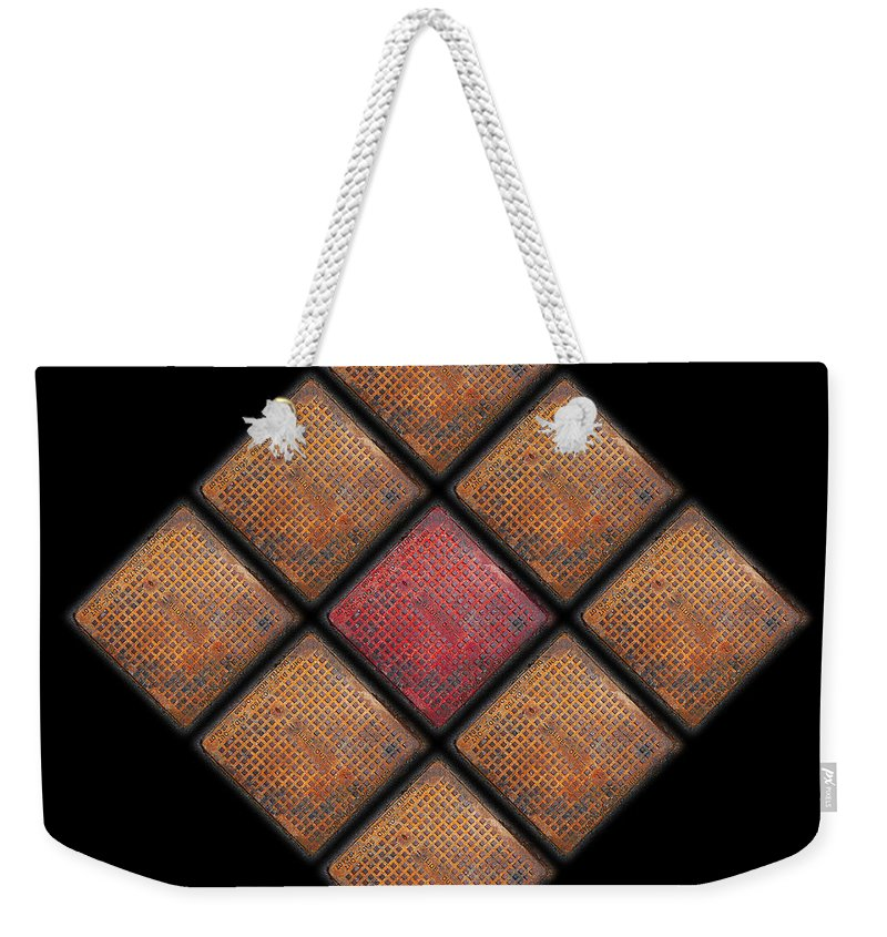 Urban Weekender Tote Bag featuring the photograph Diamond Red by Charles Stuart