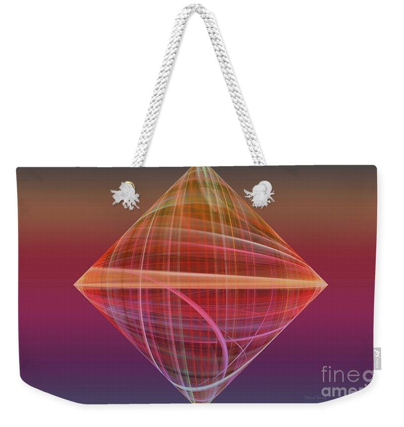 Fractal Weekender Tote Bag featuring the photograph Diamond Ripple by Deborah Benoit