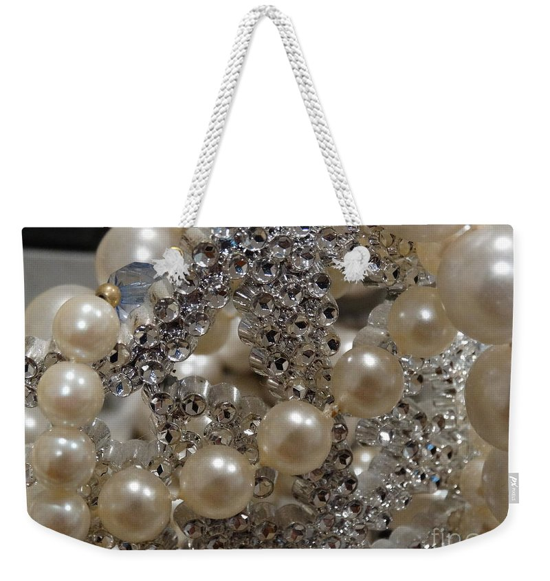 Pearls Weekender Tote Bag featuring the photograph Diamonds And Pearls 2 by Gina Sullivan