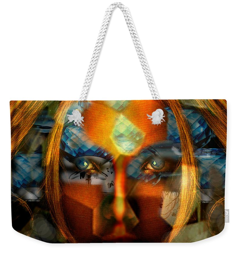 Lady Weekender Tote Bag featuring the photograph Diamonella by Seth Weaver