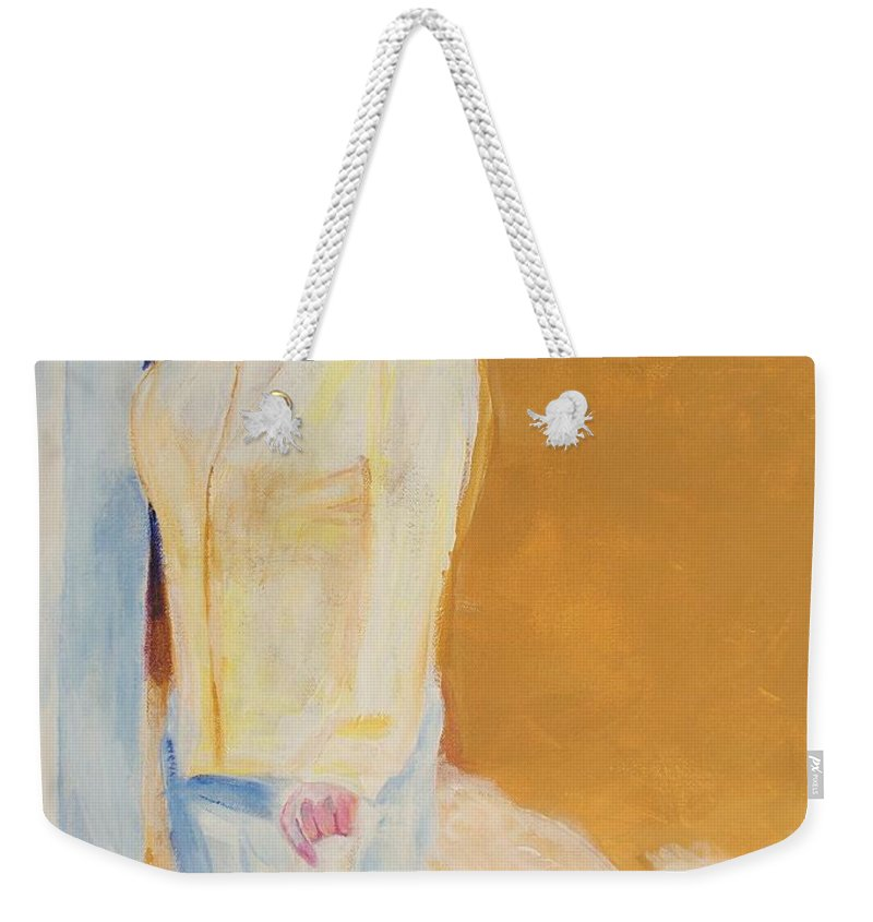 Portraits Weekender Tote Bag featuring the painting Diane by Eric Schiabor