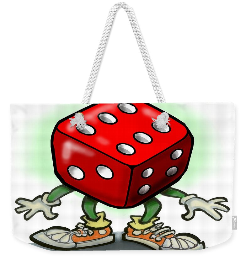 Dice Weekender Tote Bag featuring the greeting card Dice by Kevin Middleton
