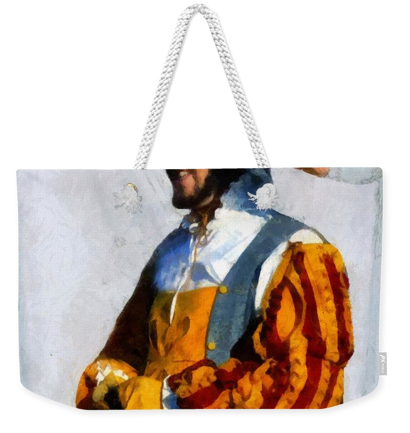 Colorful Weekender Tote Bag featuring the painting Did Somebody Say Lunch by RC DeWinter
