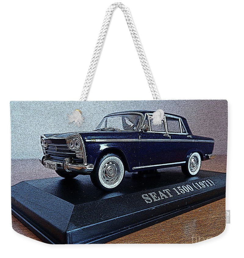 Car Weekender Tote Bag featuring the photograph Die Cast Seat 1500 2 by Don Pedro DE GRACIA