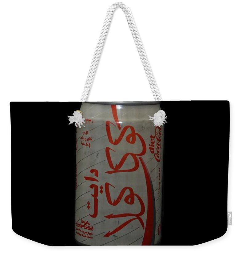 White Weekender Tote Bag featuring the photograph Diet Coke by Rob Hans