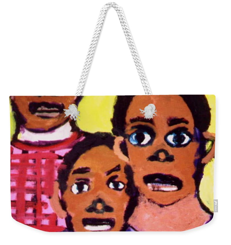 Boys Weekender Tote Bag featuring the painting Different Drums by Angela L Walker