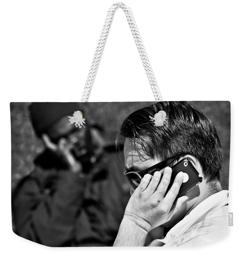 People Weekender Tote Bag featuring the photograph Different Lives by Dave Bowman