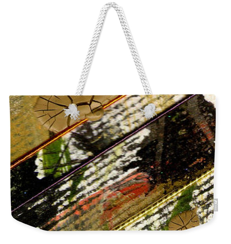 Abstract Weekender Tote Bag featuring the mixed media Different Paths by Angela L Walker