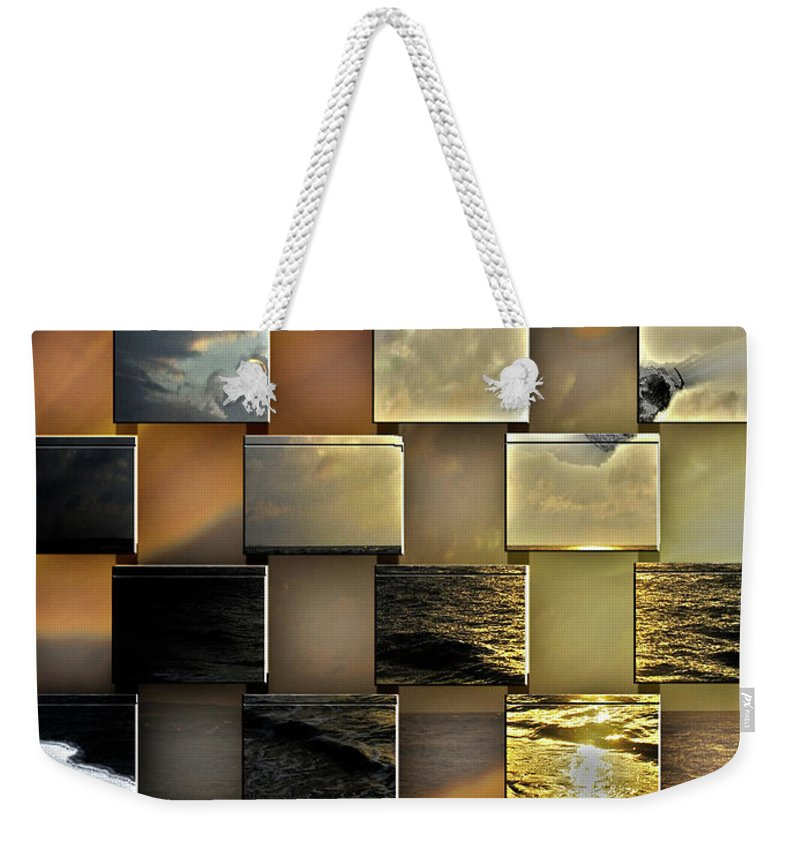 Beach Weekender Tote Bag featuring the digital art Different Shores by Another Dimension Art