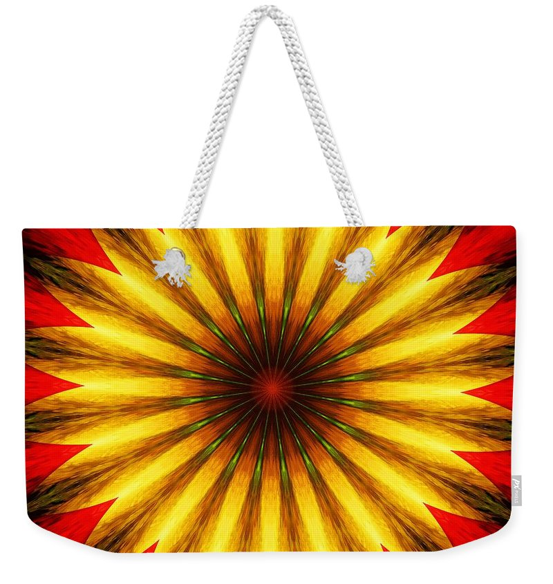 Floral Weekender Tote Bag featuring the digital art Digita Doodle 012211 by David Lane