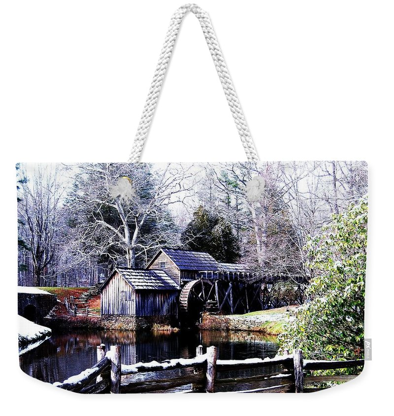 Mill Weekender Tote Bag featuring the photograph Digital Mill by Eric Liller