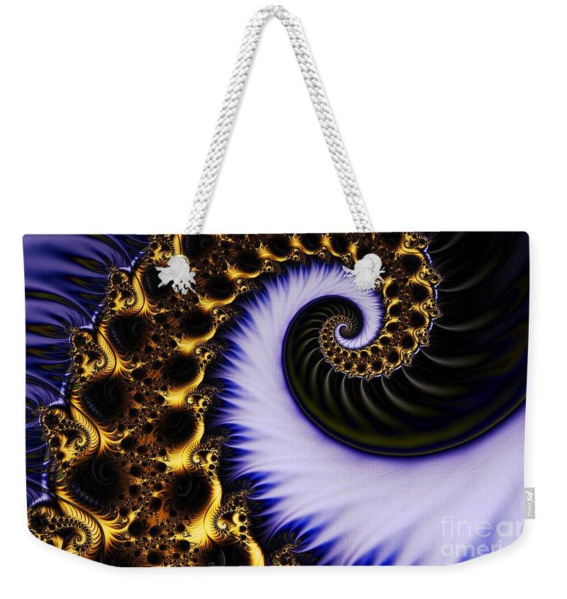 Clay Weekender Tote Bag featuring the digital art Digital Wave by Clayton Bruster