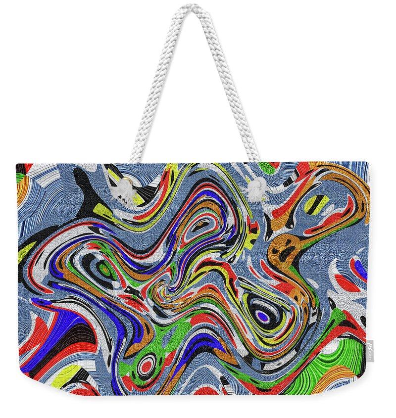 Digital Painting Weekender Tote Bag featuring the digital art Digital Painting,,#0200 Eetw1 by Tom Janca