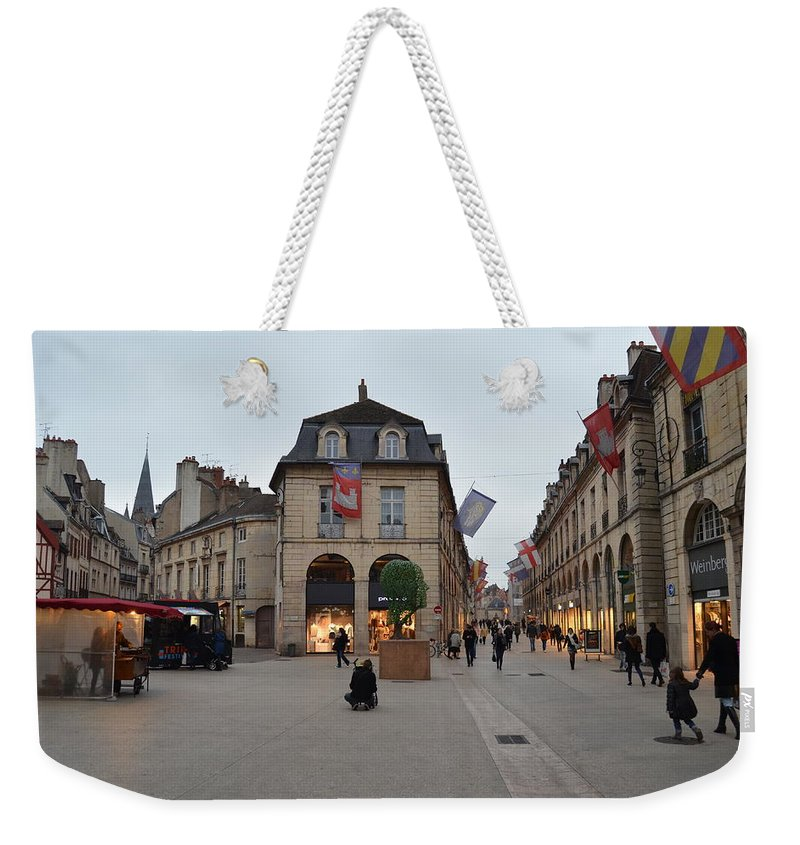 Street Corner Weekender Tote Bag featuring the photograph Dijon Street Corner by Dawn Crichton