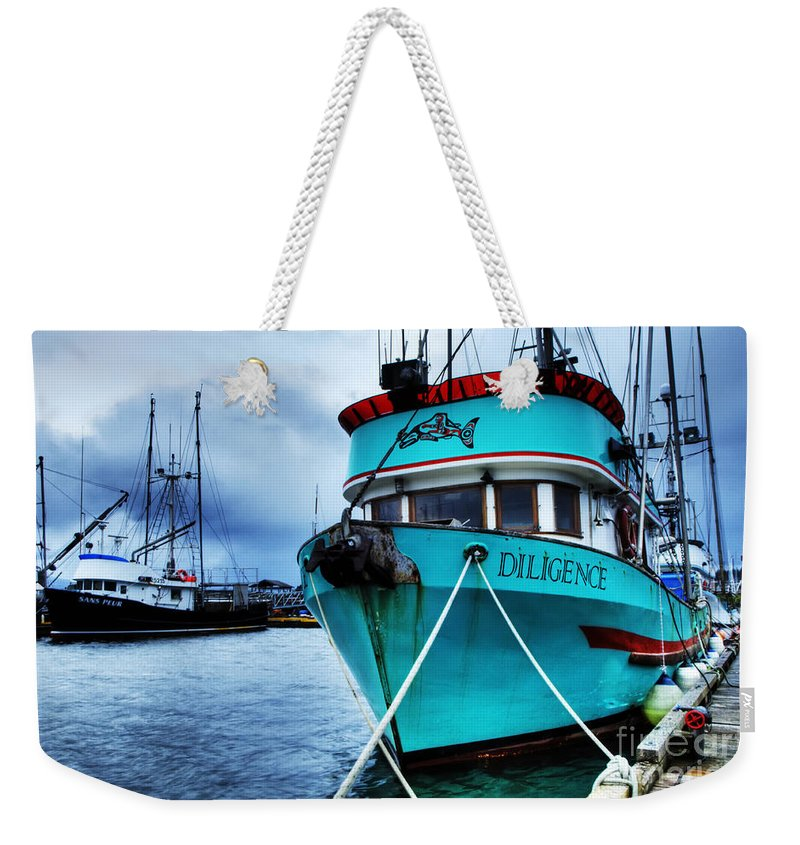 Boats Weekender Tote Bag featuring the photograph Diligence by Bob Christopher