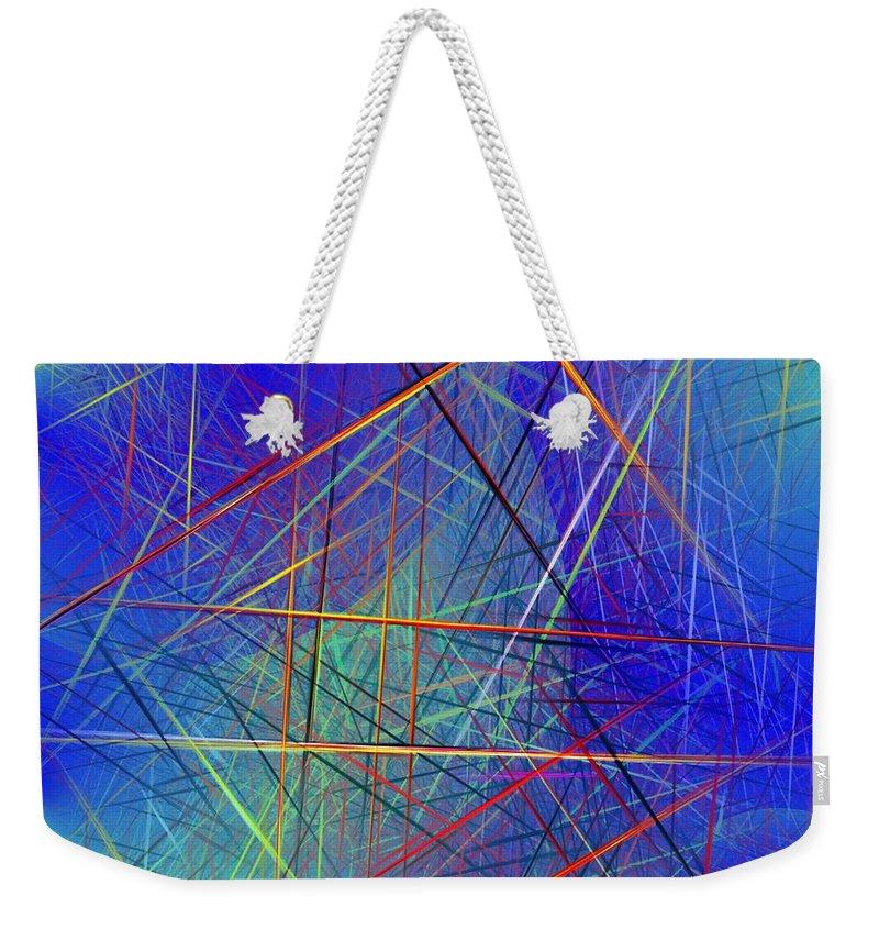 Digital Painting Weekender Tote Bag featuring the digital art Dimensions by David Lane