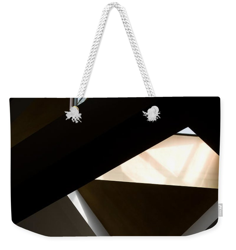 Holy Ghost Church Winnipeg Weekender Tote Bag featuring the photograph Dimensions by Joanne Smoley
